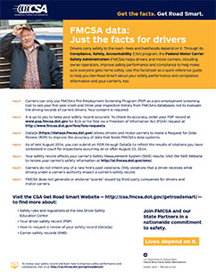 Professional drivers motor carrier safety analysis for Who is subject to federal motor carrier safety regulations