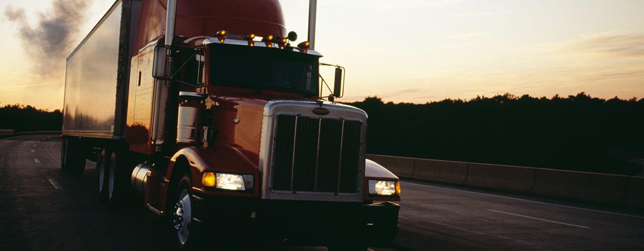 truck-on-highway-sunset